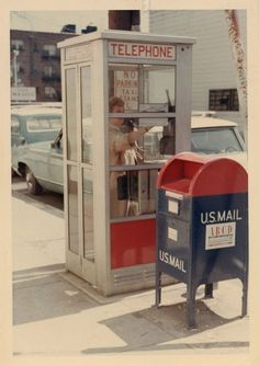 1960s. What used to be so common, on every street corner.  Can't find either of these anymore.