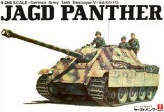 Bandai German Jagd Panther 1/24 Scale Big Classic Model Series.