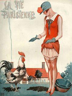 La Vie Parisienne cover illustration by George Leonec, July 1925.