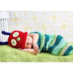 Rainbow Caterpillar Crochet Costume (2pc-set)