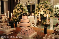 decoração festa 15 anos bolo arte da ka