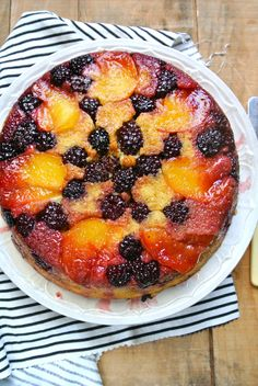 This Blackberry Upside-Down Cake is almost too pretty to eat.