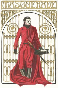The Phantom in the mask of the Red Death by Diarmaida