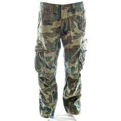 Molecule Mens Sizeups Cargo Pants, 4X-Large Euro Woodland Camo