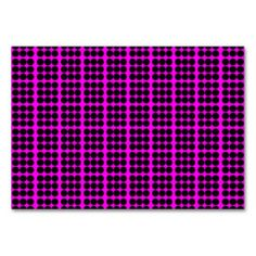 Pattern: Pink Background with Black Circles Table Card