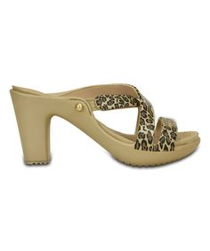 Look at this Gold & Black Leopard Cyprus IV Sandal - Women on #zulily today!