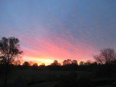 Dawn seen from our Shropshire home on 1st May 2015.