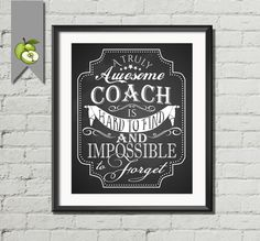 Coach appreciation sports gift A truly awesome by TheArtyApples