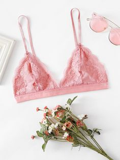 41d37b49d44f9f Scalloped Triangle Lace Bralette