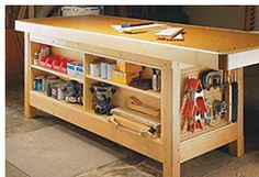 Workbench Storage Solutions: Add a Set of Shallow Shelves.