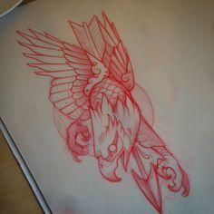 Traditional Tattoo Sketches, Traditional Tattoo Flowers, Neo Traditional Tattoo, Eagle Tattoo Forearm, Eagle Tattoos, Wing Tattoos, Bear Tattoos, Animal Tattoos, 1 Tattoo