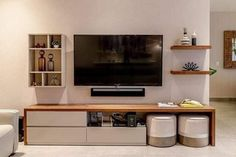 Tv Unit Interior Design, Tv Unit Furniture Design, Modern Tv Unit Designs, Living Room Tv Unit Designs, Tv Unit For Living Room, Bedroom Tv Unit Design, Ideas For Living Room, Simple Tv Unit Design, Wall Unit Designs
