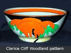 Large bowl with highlight Clarise Cliff