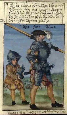 Matthäus Schwarz of Augsburg (1497-1574). An early version of take-your-kid-to-work day.