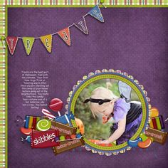 "CT Donna's layout using ""Sweet Stuff"" by Snips and Snails available at One Story Down: http://onestorydown.com/shop/product.php?productid=18965=1"