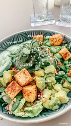 Healthy Meal Prep, Healthy Snacks, Healthy Eating, Vegetarian Recipes, Healthy Recipes, Food Goals, Food Is Fuel, Aesthetic Food, I Love Food