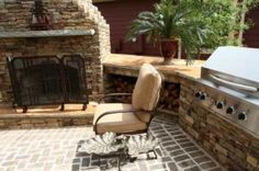 Outdoor fireplaces are a great way to enjoy the backyard at night, even when the weather is chilly. This is a project for a determined do-it-yourselfer with . Build Outdoor Fireplace, Outdoor Fireplaces, Solar Deck Lights, Deck Lighting, Fireplace Kits, Brick Fireplace, Outdoor Rooms, Outdoor Living, Outdoor Decor