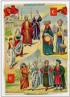 Traditional Costumes of TURKEY Turkiye EGYPT & ARABIA 1920/30´s Cutting