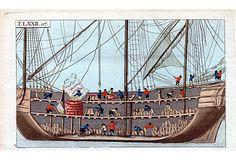 Whaling Ship Interior Engraving, 1808 on OneKingsLane.com