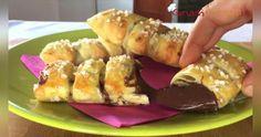 Cucina facile con i video: Sfogliatine di banane e nutella