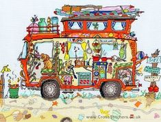 Cut Thru' Camper Van - Bothy Threads Cross Stitch Kit