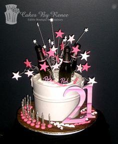 21st Birthday Cakes Cake Drinks Ice Bucket Party