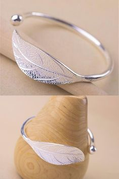Make a Fashion Statement with our stunning 925 Sterling Silver Leaf Bracelets. Make a Fashion Statement with our stunning 925 Sterling Silver Leaf Bracelets. Silver Ear Cuff, Silver Bracelets, Sterling Silver Earrings, Bangles, Mood Jewelry, Jewelry Design Earrings, Ancient Aliens, Ancient Egypt, Ancient History