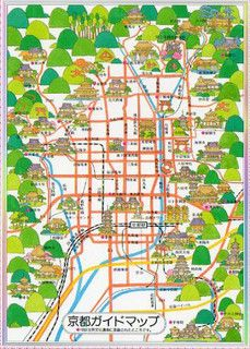 Map of Kyoto京都の地図