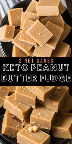 Keto Peanut Butter Fudge - Maebells The perfect Keto Peanut Butter Fudge! Ultra creamy, three ingredient Keto Peanut Butter Fudge that is only 2 net carbs per slice! Keto Foods, Ketogenic Recipes, Keto Snacks, Ketogenic Diet, Healthy Foods, Low Carb Peanut Butter, Peanut Butter Fudge, Low Carb Sweets, Low Carb Desserts