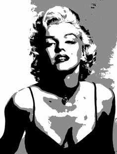 New pop art marilyn monroe pictures Ideas Pop Art Marilyn Monroe, Marilyn Monroe Dibujo, Marilyn Monroe Painting, Marilyn Monroe Stencil, Black And White Posters, Black And White Canvas, Black And White Painting, Black And White Pictures, Portraits Pop Art