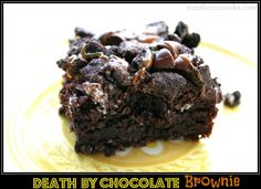 Death by Chocolate Brownie - Eat at Home (brownies, Oreos, chocolate chips, caramel!)