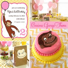 Curious George Birthday Party Theme by PigskinsandPigtails-LOVE the goodie bags! Curious George Party, Curious George Cakes, Curious George Birthday, Second Birthday Ideas, 3rd Birthday Parties, Birthday Fun, Monkey Birthday, First Birthdays, Party Ideas
