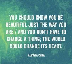 if you like the song scares to your beautiful by Allesia Cara then you will like the poem