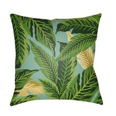 Buy the Surya Green Direct. Shop for the Surya Green Tropical Wide Square Botanical Leaves Polyester Covered Polyester Filled Outdoor Accent Pillow and save. Floral Throws, Floral Throw Pillows, Throw Pillow Cases, Accent Pillows, Floor Pillows, Decorative Throw Pillows, Decorative Accents, Decorative Accessories, Sofa Cushion Covers