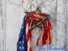 Primitive Birch 5 Point Star Wreath 15 wall art or door Americana Crafts, Patriotic Crafts, Patriotic Wreath, July Crafts, Holiday Crafts, Holiday Ideas, Patriotic Bunting, Flag Wreath, Kids Crafts