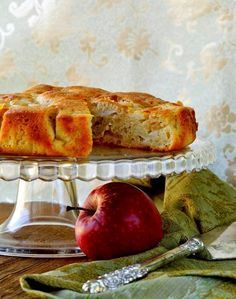 Buy Homemade Apple Pie by on PhotoDune. homemade apple pie on a wooden table Greek Desserts, Greek Recipes, Mexican Food Recipes, New Recipes, Cooking Recipes, Cake Bars, Pie Cake, Low Calorie Cake, Apple Deserts
