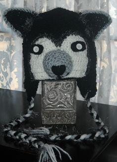 Items similar to Crochet Hat Wolf on Etsy Childrens Crochet Hats, Crochet Animal Hats, Crochet For Boys, Knitting For Kids, Crochet Beanie, Crochet Baby, Crochet Crafts, Crochet Projects, Crochet Wolf
