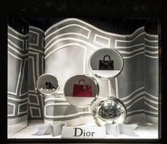 Dior windows at Saks department store, New York visual merchandising Fashion Window Display, Window Display Design, Store Window Displays, Retail Displays, Retail Windows, Store Windows, Windows 1, Design Blog, Store Design