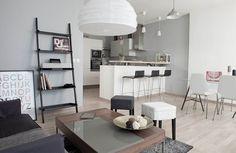 Création d'une cuisine américaine espace cuisine et salle à manger