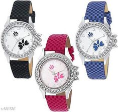 Watches Stylish Women's Watch (Set Of 3)  Material: Synthetic Leather Size: Free Size Description: It Has 3 Pieces Of Watches Country of Origin: India Sizes Available: Free Size *Proof of Safe Delivery! Click to know on Safety Standards of Delivery Partners- https://ltl.sh/y_nZrAV3  Catalog Rating: ★4 (4322)  Catalog Name: Free Gift Clalssy Ladies Watches Combo Vol 1 CatalogID_77323 C72-SC1087 Code: 603-681581-