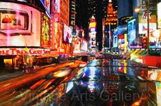 Fine Art Print  Times Square at Night  by RareVintagePatterns