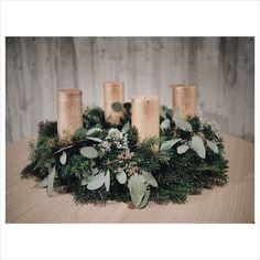 Christmas wreath #eucalyptus #natural design