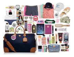 """""""Summer vacay"""" by preppy-prep ❤ liked on Polyvore featuring Tory Burch, philosophy, Vineyard Vines, Southern Tide, Philip Kingsley, Eos, Maybelline, Lilly Pulitzer, Bobbi Brown Cosmetics and Baby-G"""