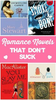 Romance Novels that Don't Suck: an awesome list by a reformed librarian and her book-nerd friends. One of them is FREE for download from Amazon!