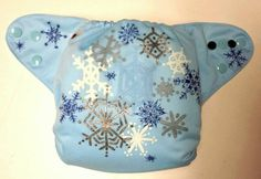 Snow Flake, One Size Cloth Pocket Diaper