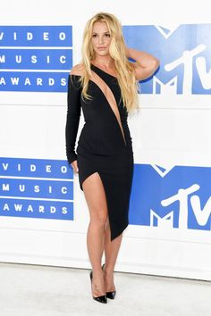 Britney Spears on the red carpet at the 2016 MTV Video Music Awards in New York, New York.