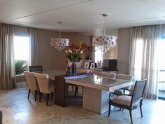 Mesa com aparador embutido em salas de jantar e cozinhas - veja modelos lindos! - DecorSalteado