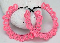 Crochet hoop earrings - Crochet jewelry - Big earrings - Blue earrings - Fashion jewelry - Gift idea - Bridesmaid earrings Pair of crocheted Crochet Jewelry Patterns, Crochet Earrings Pattern, Crochet Mandala Pattern, Crochet Accessories, Big Earrings, Hoop Earrings, Quilling Earrings, Bridesmaid Gifts, Bridesmaid Earrings