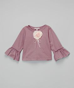 Victoria Kids Purple & Pink Rosette Ruffle Top - Infant & Toddler | zulily