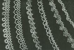 Vintage 1940s Six Handkerchief or Linen Edging Tatting Pattern PDF 4624